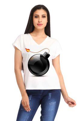 Buy Snoby Bomb Printed T-shirt (sbypt1685) online