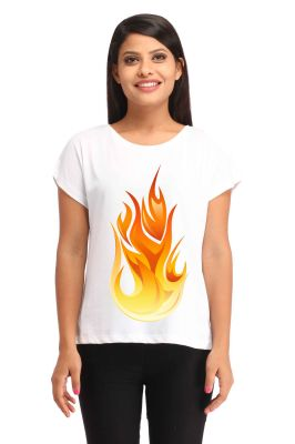 Buy Snoby Fire Printed T-shirt (sbypt1686) online
