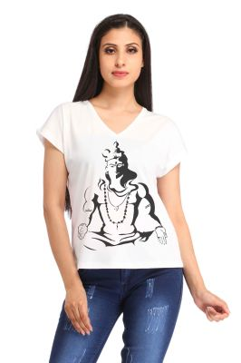 Buy Snoby Lord Shiva Printed T-shirt (sbypt1689) online