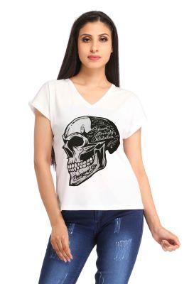 Buy Snoby Skull Printed T-shirt (sbypt1707) online