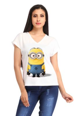 Buy Snoby Full Minions Printed T-Shirt online