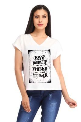 Buy Snoby Love Yourself Print T-shirt (sbypt1779) online