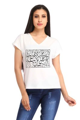 Buy Snoby Never Give Up Print T-Shirt online