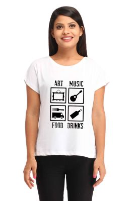 Buy Snoby Art, Music, Food & Drink Print T-Shirt online
