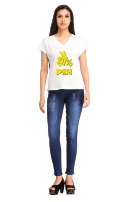 Buy Snoby Desi Print T-Shirt online