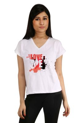 Buy Snoby Love Me Printed  T-Shirt online