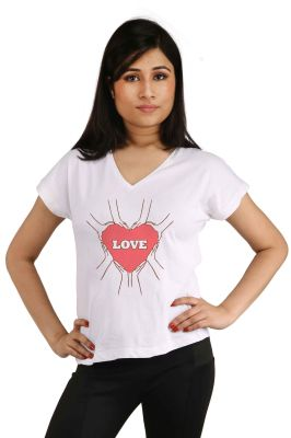 Buy Snoby Love With Heart Printed T-shirt (sbypt2046) online