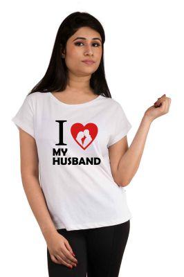 Buy Snoby I Love My Husband Printed T-shirt (sbypt2056) online