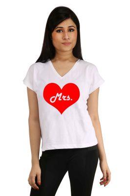 Buy Snoby Mrs. Heart Printed T-shirt (sbypt2061) online