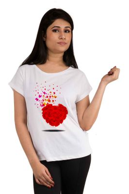 Buy Snoby Heart Printed T-shirt (sbypt2070) online