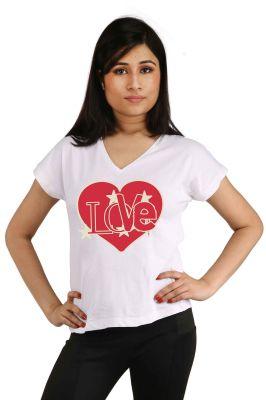 Buy Snoby Love Heart Printed T-shirt (sbypt2085) online