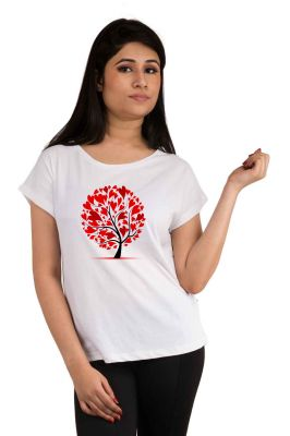 Buy Snoby Love Tree Printed T-Shirt online
