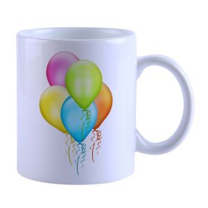 Buy Snoby colorful Baloons Printed Mug online
