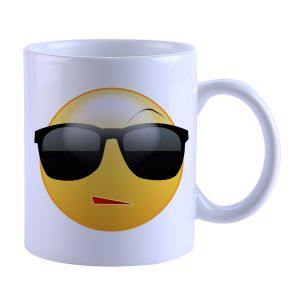 Buy Snoby face with Sunglass Printed Mug online