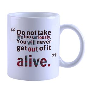 Buy Snoby Quotes Printed Mug online