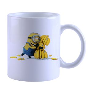 Buy Snoby Minion with Banana Printed Mug online