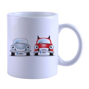 Buy Snoby Car Racnig Printed Mug online