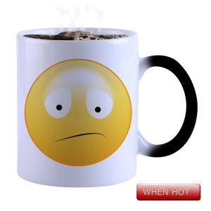 Buy Snoby Magic Mug Black Ceramic Colour Changing Coffee Mug(setg_703) online