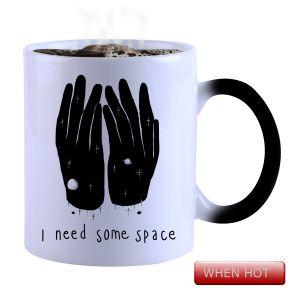 Buy Snoby Magic Mug Black Ceramic Colour Changing Coffee Mug(setg_725) online