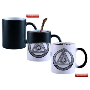 Buy Snoby Magic Mug Black Ceramic Colour Changing Coffee Mug(setg_770) online