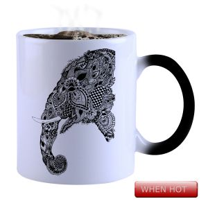 Buy Snoby Magic Mug Black Ceramic Colour Changing Coffee Mug(setg_839) online