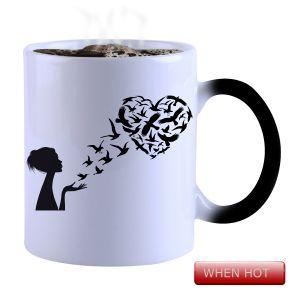 Buy Snoby Magic Mug Black Ceramic Colour Changing Coffee Mug(setg_846) online