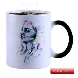 Buy Snoby Magic Mug Black Ceramic Colour Changing Coffee Mug(setg_862) online