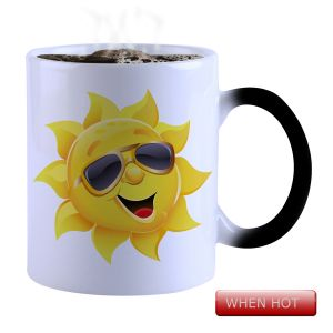 Buy Snoby Magic Mug Black Ceramic Colour Changing Coffee Mug online