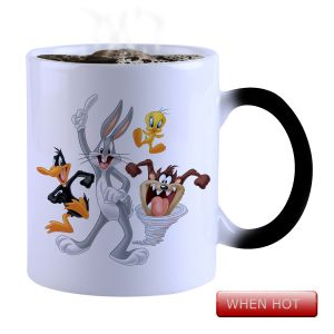 Buy Snoby Magic Mug Black Ceramic Colour Changing Coffee Mug(setg_981) online