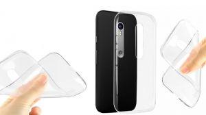 Buy Snoby Rrubber Back Cover For Motorola Moto G (3rd Gen) (transparent) (setm_111) online