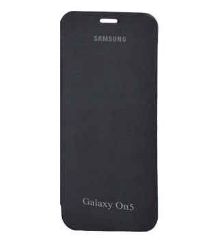 Buy Snoby Artificial Leather Flip Cover For Samsung Galaxy On5 (Black) online