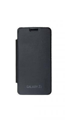 Buy Snoby Artificial Leather Flip Cover For Samsung Galaxy Z1 (Black) online