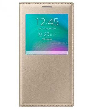 Buy Snoby Artificial Leather Flip Cover For Samsung Galaxy J7 (Golden) online