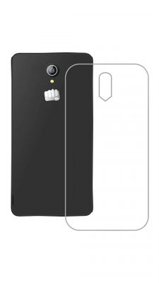 Buy Snoby Rubber Back Cover For Micromax Canvas 4G Q417 (Transparent) online