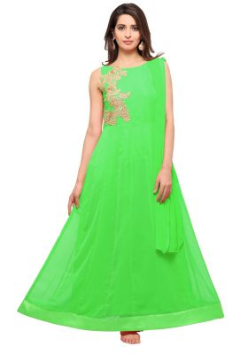 Buy Fashionuma Designer Georgette Indian Anarkali Salwar Suit online