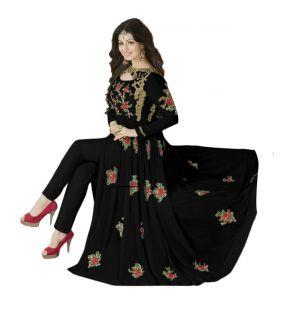 Buy Fashionuma Stylish Designer Embroidered Gerorgette Bollywood Anarkali Salwar Suit F1015 online