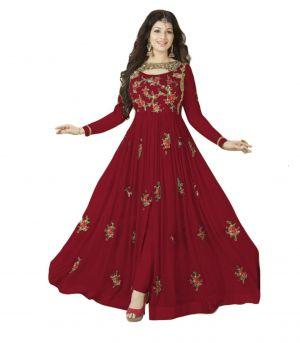 Buy Fashionuma Stylish Designer Embroidered Gerorgette Bollywood Anarkali Salwar Suit F1016 online