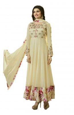 Buy Fashionuma Indian Stylish Designer Bollywood Replica Gerogette Embroidered Anarkali Salwar Suit F1021 online
