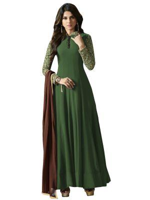 Buy Fashionuma Ethnic Designer Georgette Bollywood Replica Anarkali Salwar Suit online