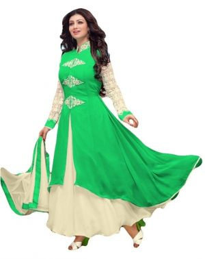 Buy Fashionuma Bollywood Replica Designer Georgette Anarkali Salwar Suit With Dupatta online