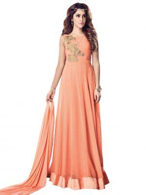 Buy Fashionuma Designer Georgette Indian Anarkali Salwar Suit F1083 online