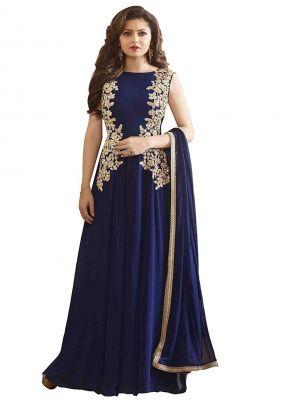 Buy Fashionuma Designer Georgette Embroidered Anarkali Embroidered Salwar Suit online