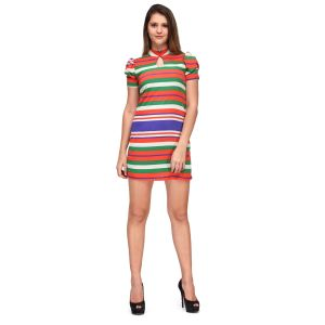 Buy Sportelle Usa India Crepe With Sleeve Dress online