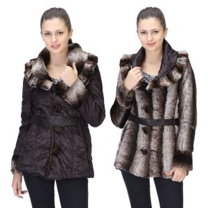 Buy Le Fashionelle Full Sleeves Stylish European Winter Jacket With High Grade Polyfill For Women's/girl's- Lf-brjacket-108 (reversible Jacket) online