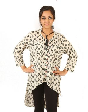 Buy Indricka Cream Color Kurti For Women. online