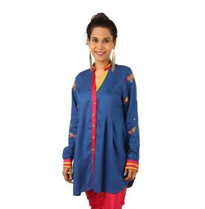 Buy Indricka Blue Color Tunic For Women. online