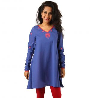 Buy Indricka Blue Color Kurti For Women. online