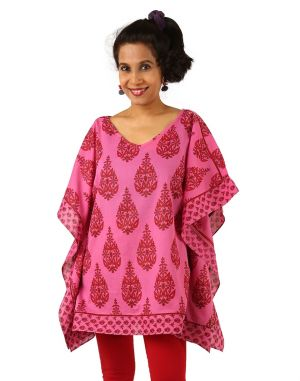 Buy Indricka Pink Color Poncho Kurti For Women. online