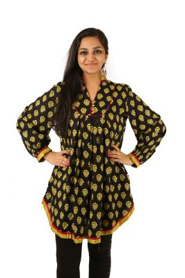 Buy Indricka Black Color Tunic For Women. online