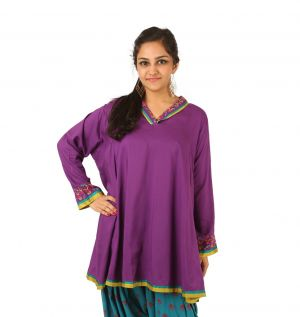 Buy Indricka Purple Color Tunic For Women. online